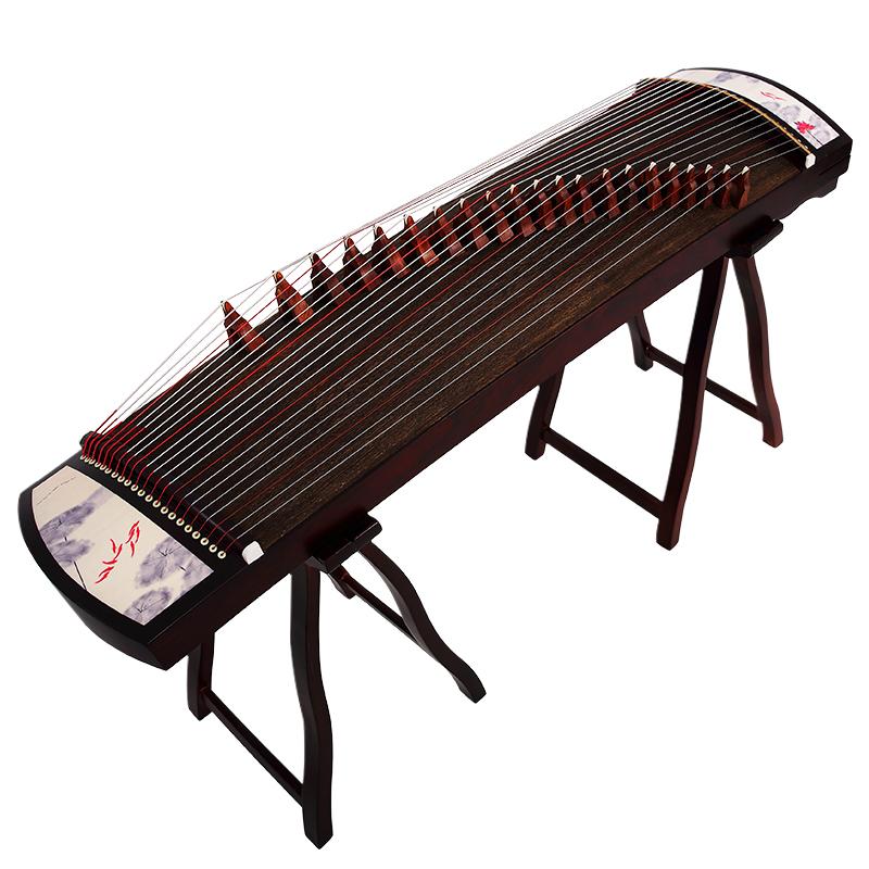 御唐便携式小古筝初学者入门古筝琴扬州漆画小型 考级21弦12301