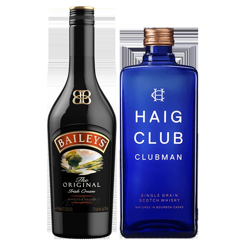 百利甜酒baileys原味700ml+翰格雅爵700ml谷物威士忌进口洋酒组合