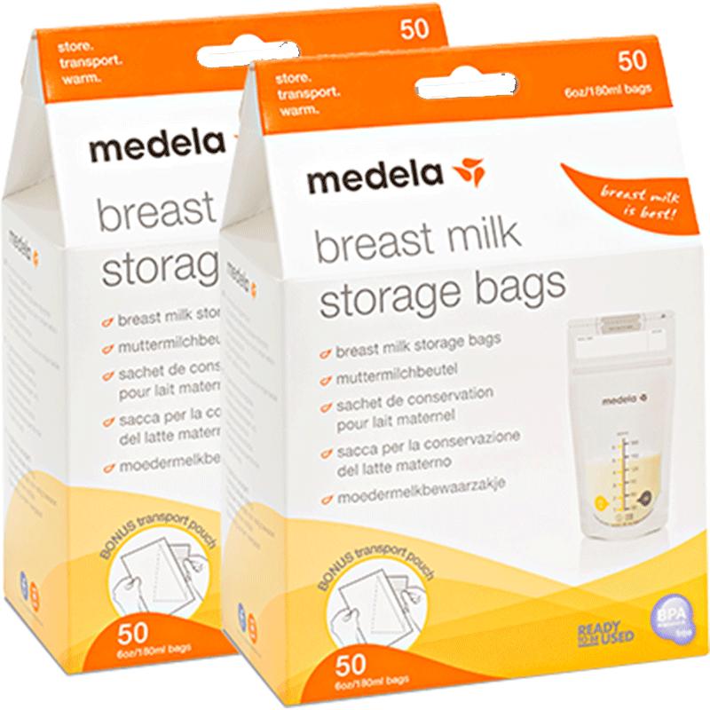 【100片】美德乐储奶袋一次性储奶袋母乳保鲜袋婴儿存奶袋儿180ml