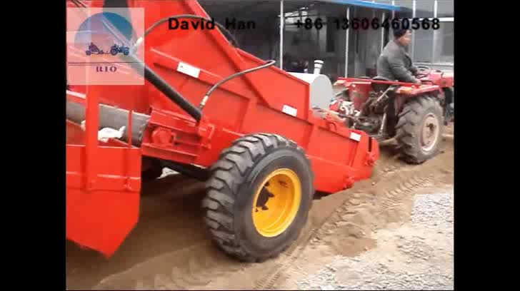 Tractor towed beach cleaning machine effiective cleaning sand areas