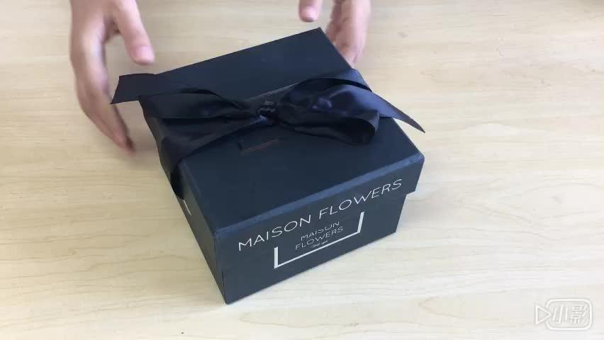 high level white gift paper box for flower packing