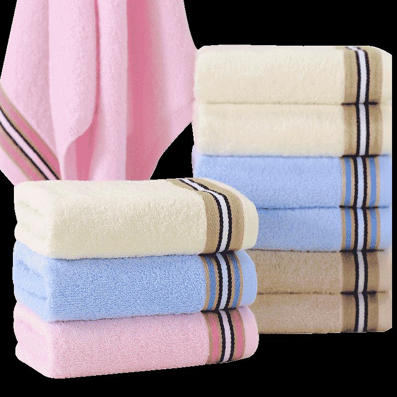 洁玉毛巾10条装纯棉洗脸家用成人男女全棉柔软吸水加厚不掉毛批发