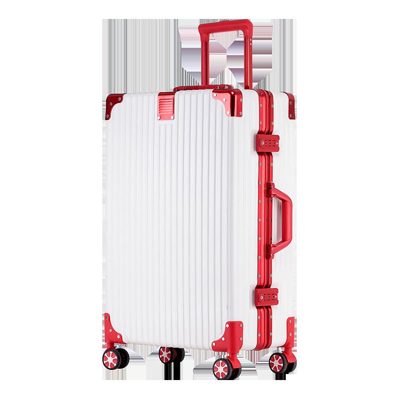 鋁框行李箱ins網紅拉桿箱萬向輪20寸韓版密碼旅行箱24皮箱子男女