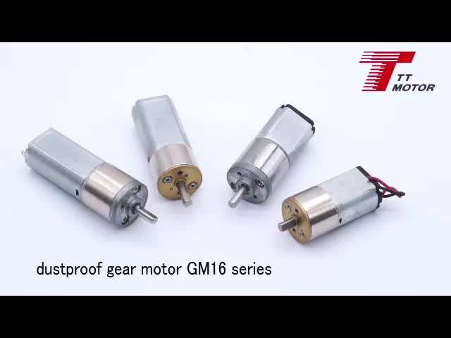 GM16T-050SH 6-12v high quality dc brushed motor for electric bicycle