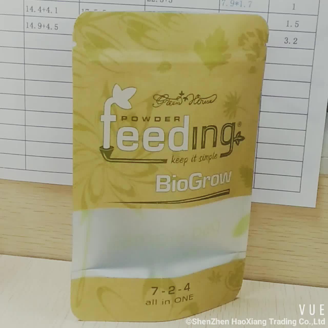 Atacado make up zip bloqueio saco de papel Kraft com janela do retângulo de plástico laminado saco de papel para frutas secas