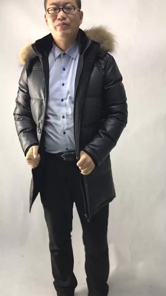 Erkek Kış Ceket Yüksek Kaliteli PU Deri Erkek Ceket Kapitone Ceket