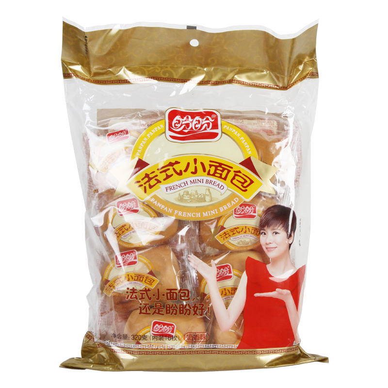 盼盼法式小面包320g营养早餐食品休闲下午茶零食手撕小口袋面包