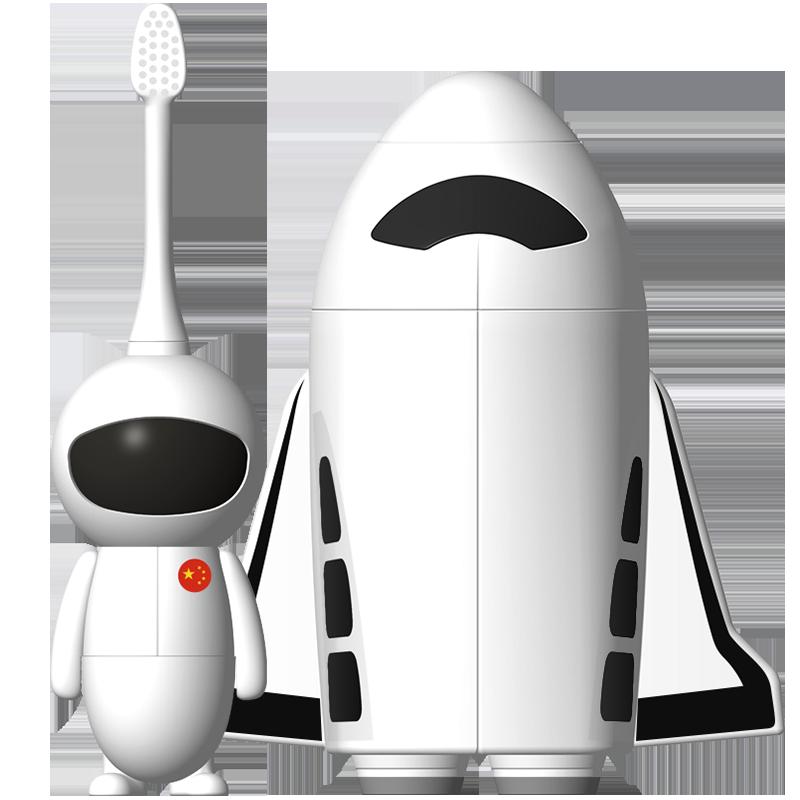 【烈儿推荐】舒宁儿童宇航员非充电软毛电动牙刷2-3-5-7-12岁卡通