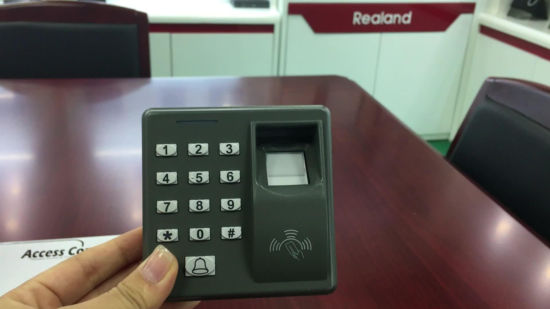 Realand M-F100バイオメトリックデバイススワイプカードエントリーシステム指紋ドアアクセス制御