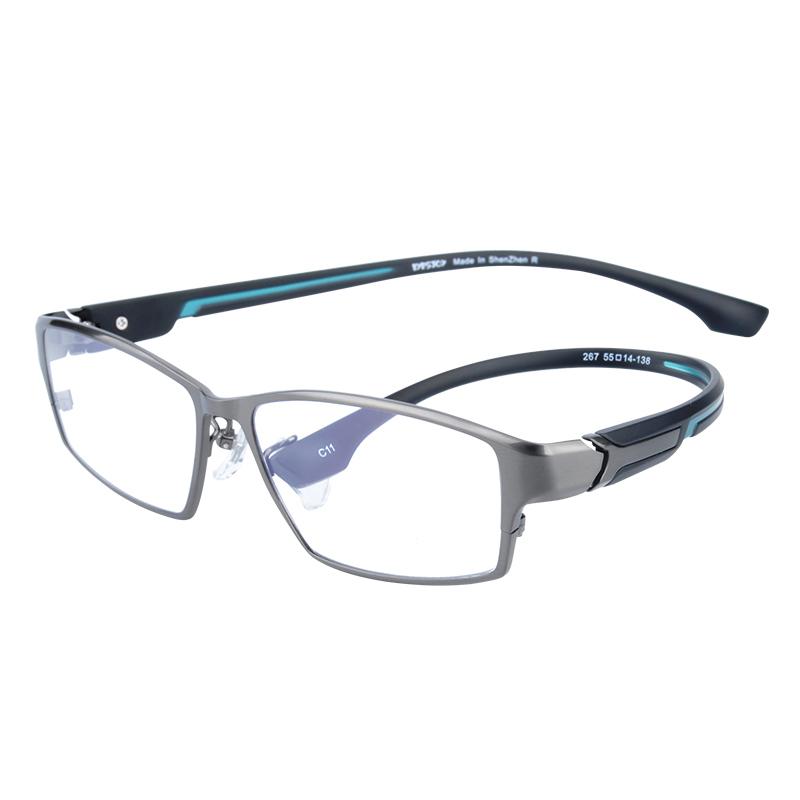 近视可配有度数男式全框变色眼镜框质量好不好