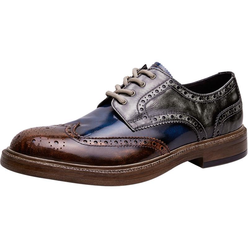 爱得堡皮鞋男商务休闲英伦休闲鞋好用吗