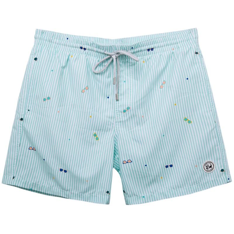 沙滩裤男速干宽松情侣短裤海边度假可下水温泉泳裤女大码男士泳衣