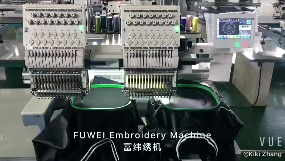 Fuwei çift kafaları büyük lun için tajima bilgisayarlı nakış makinesi fiyat resimleri