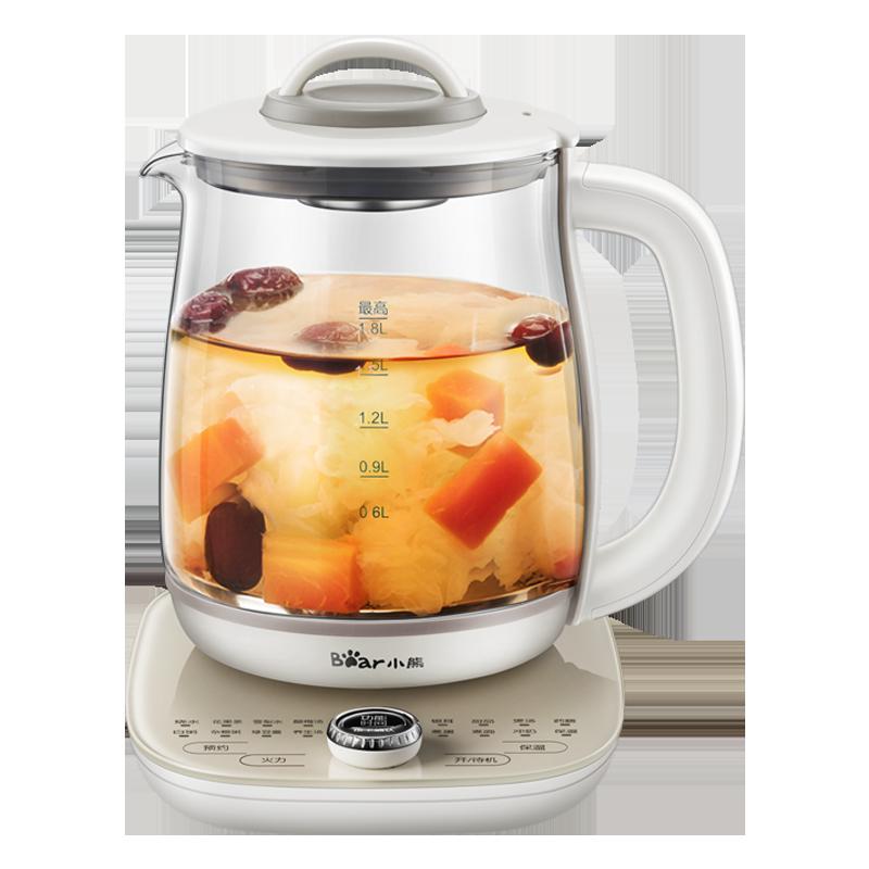 小熊养身养生壶家用多功能全自动加厚玻璃电煮茶器1.8升煮花茶壶