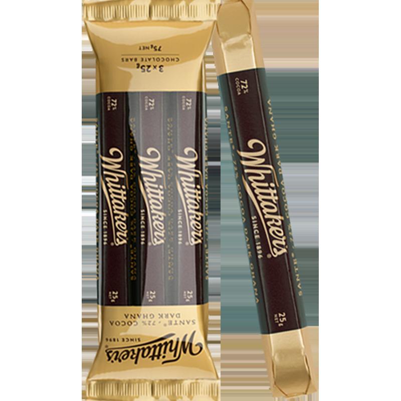新西兰进口Whittaker's惠特克72%黑巧克力善调棒 白领零食便携装_天猫超市优惠券