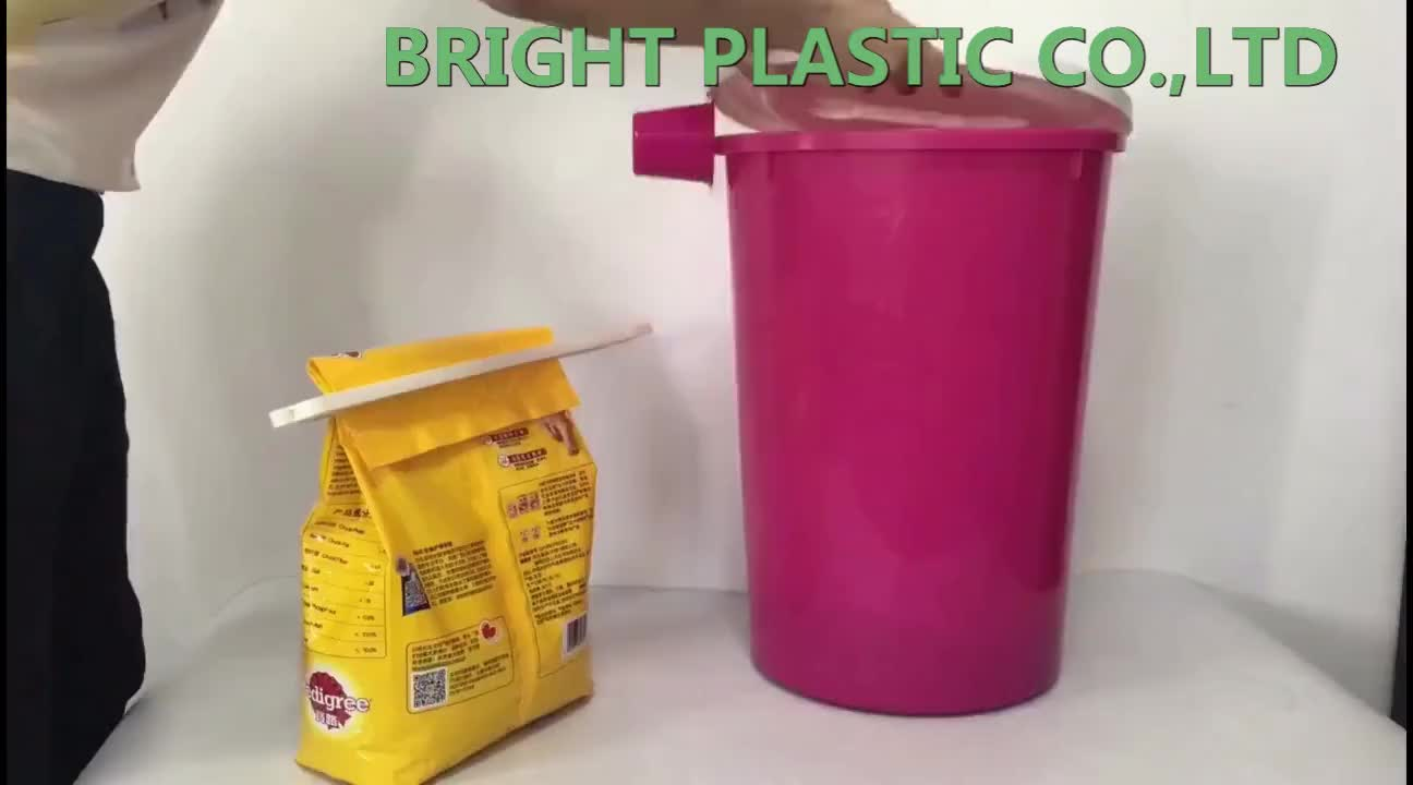35L popular promotional round plastic Dog food container