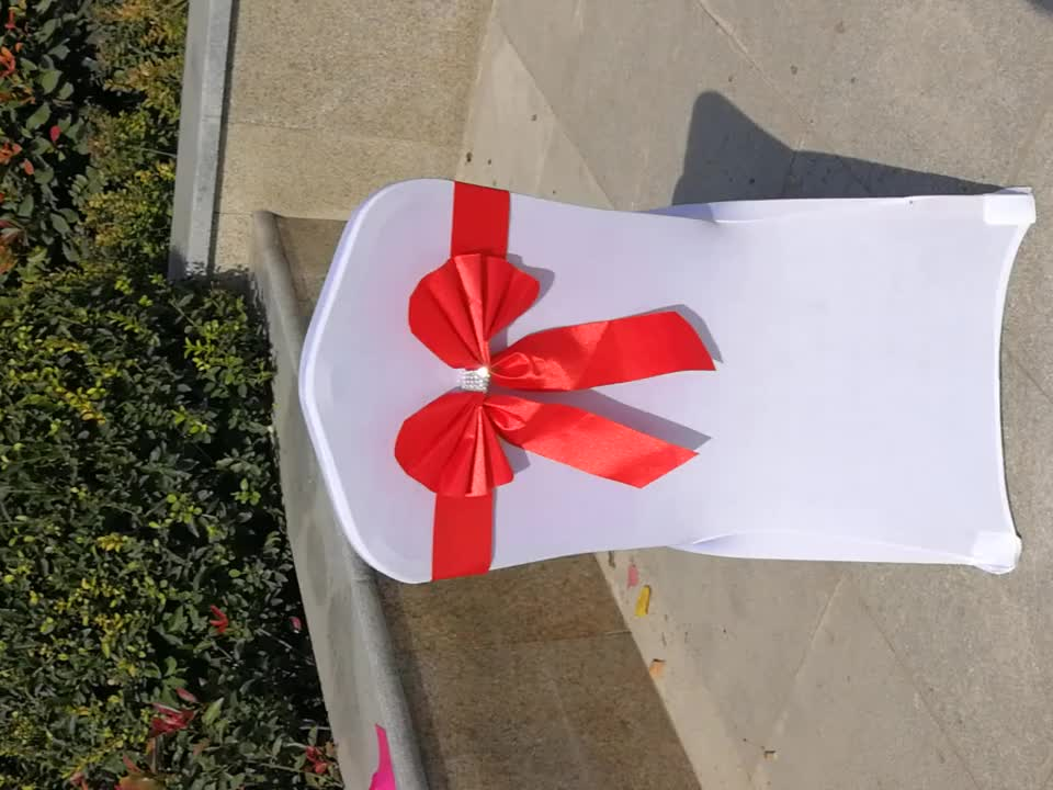 Newest Style Hot Pull Flower Ribbon Bows/ Satin Chair Sash Wedding Chair sash,Satin Butterfly Bow For Wedding