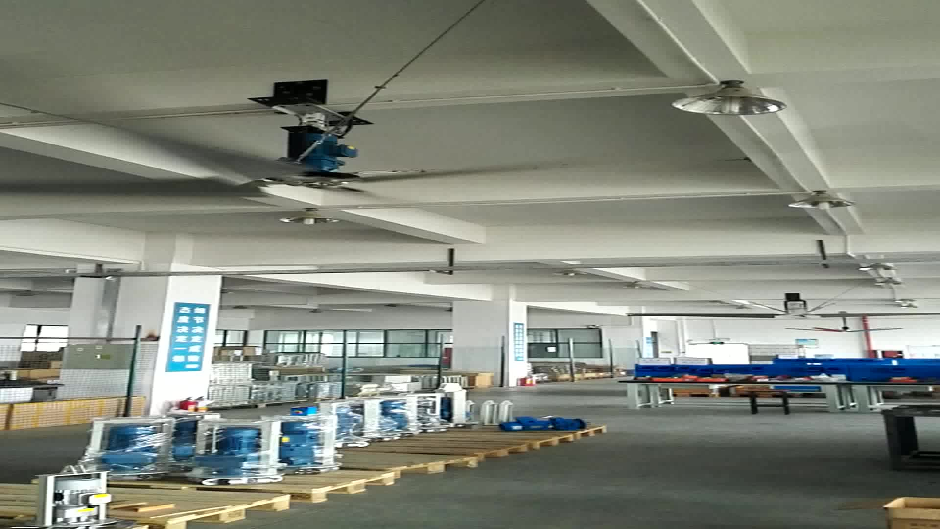 Big Ceiling Fan 24 Ft High Volume Low Speed Fans For Industrial