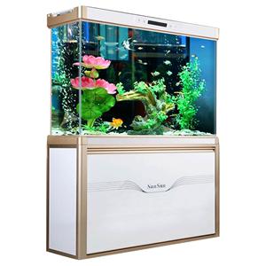 森森高大型超白玻璃水族箱热带鱼缸