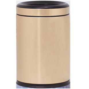 不锈钢圆形压圈家用客厅厨房垃圾桶
