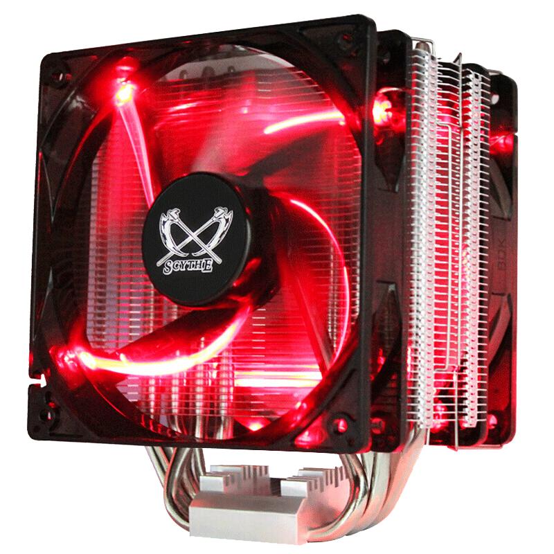 大镰刀赤兔马STB120 4热管intel AM4多平台CPU散热器12cm红光风扇