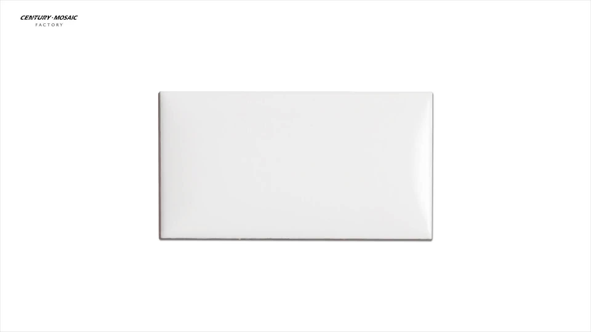 Century Factory Price Super White 3''x6'' Beveled Ceramic Tile