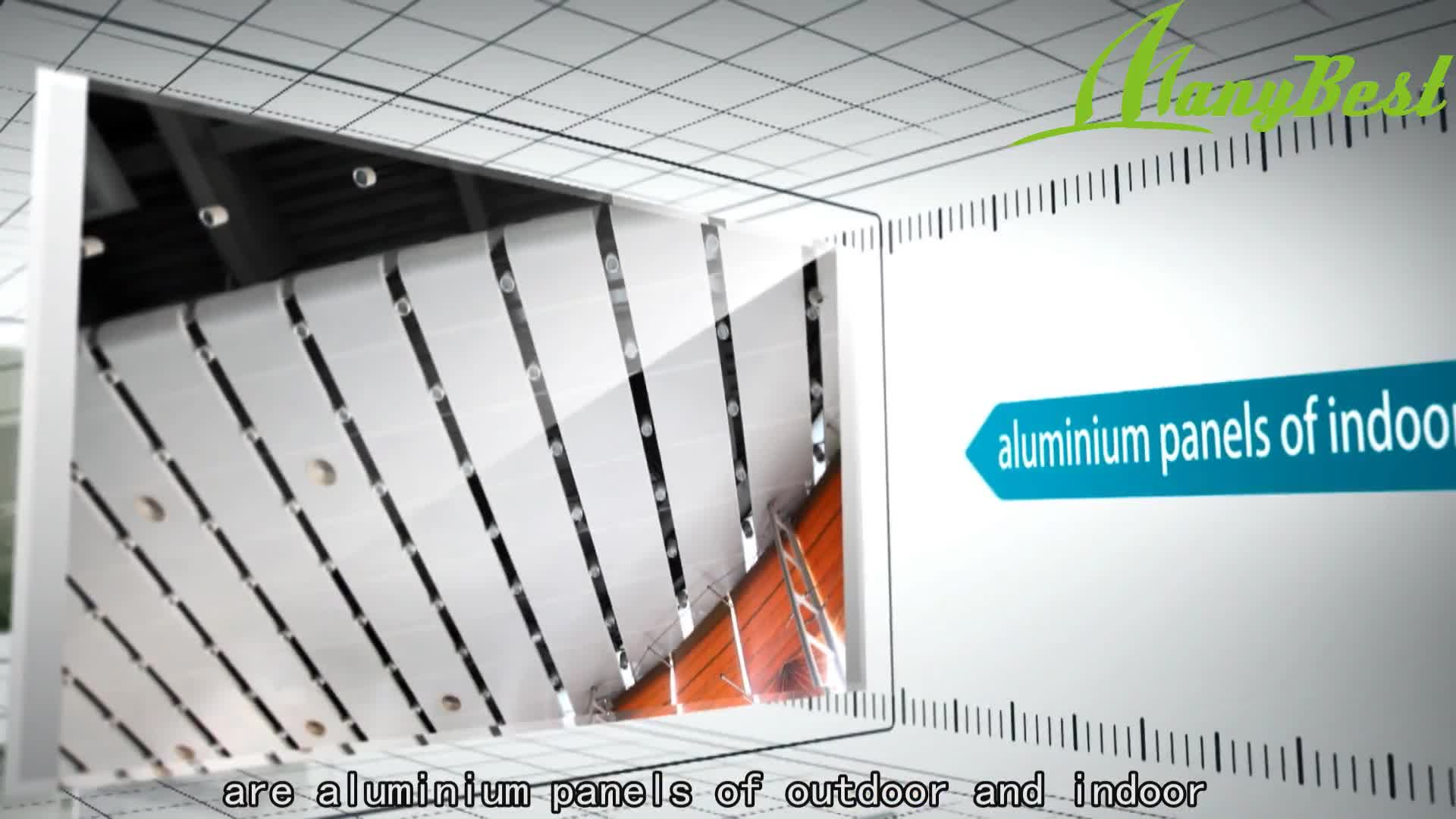 2020 Manybest Sound Absorbing Aluminum Acoustic False Ceiling Board