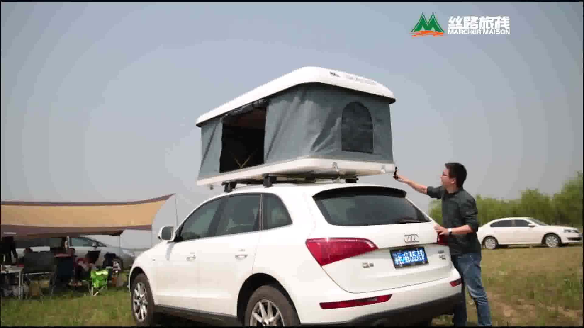 2019 MARCHER MAISON 지붕 텐트 Hard 쉘 차 Roof Top 카 텐트 천막