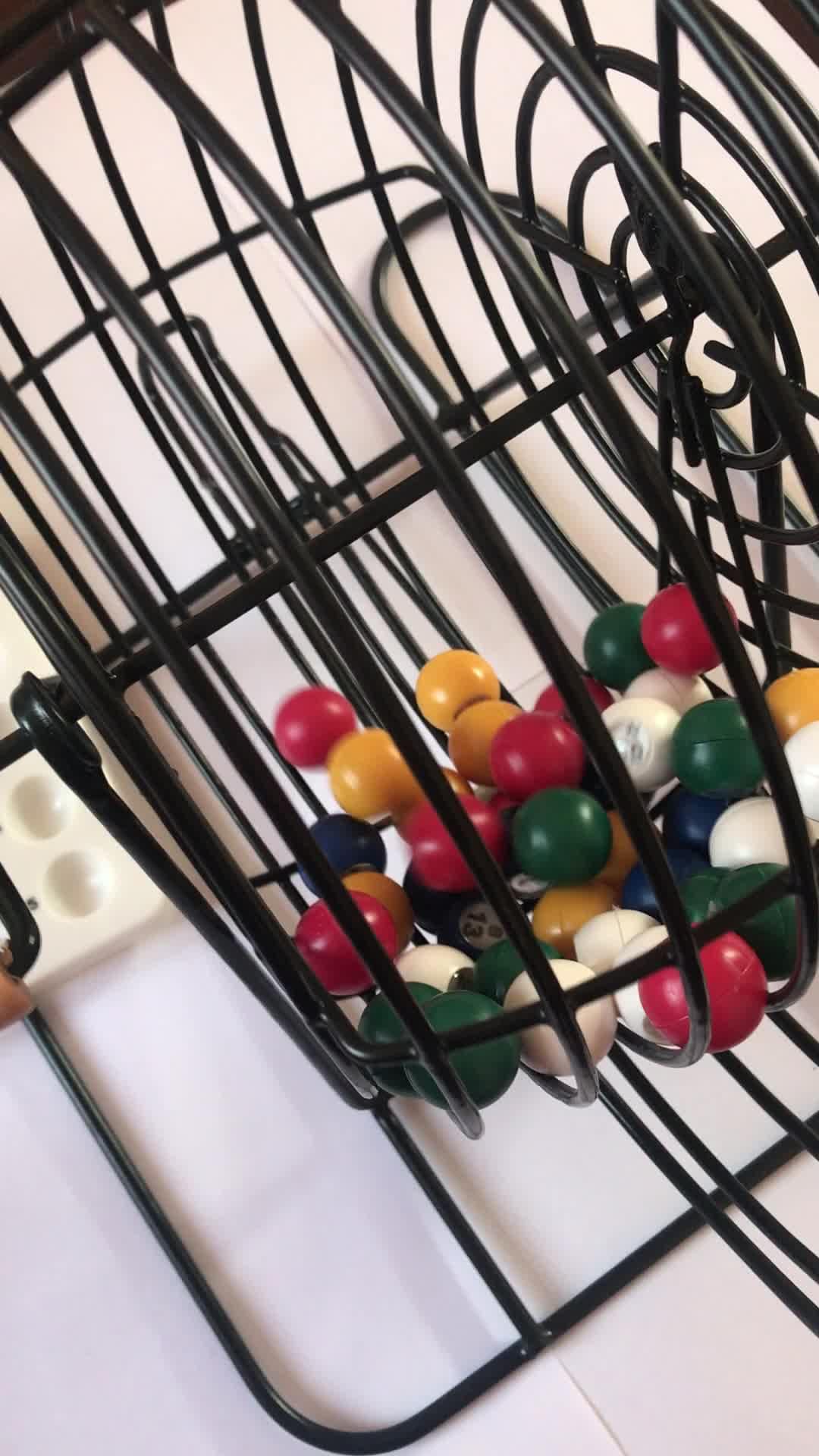 Deluxe Wire Cage Bingo Set/Bingo Supplies Jumbo Bingo Game