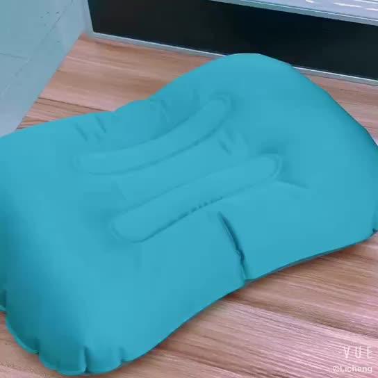 卸売在庫 & カスタマイズエアインフレータブル枕旅行枕キャンプ