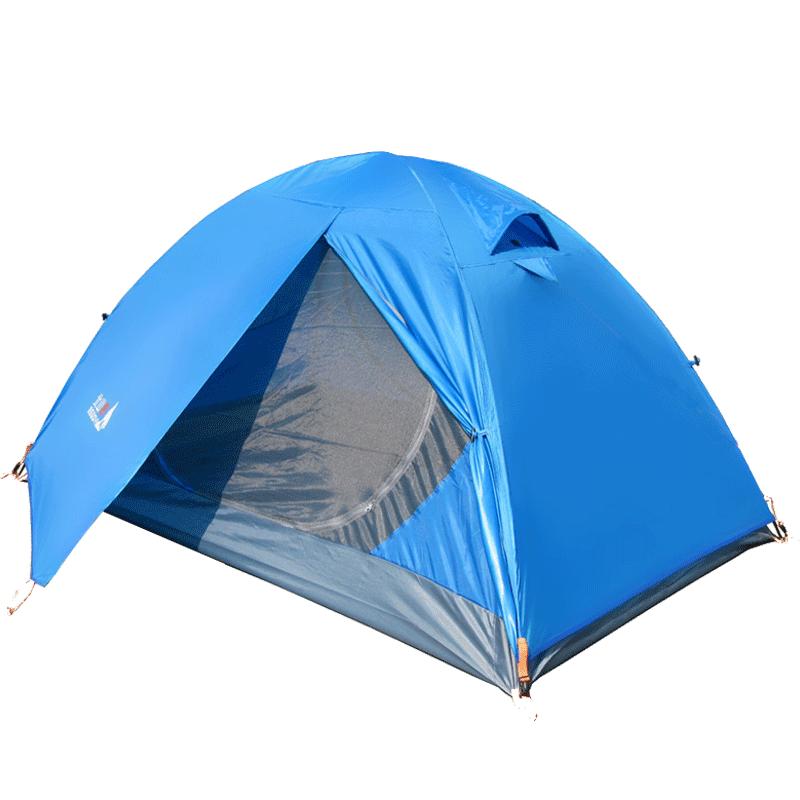北山狼双人露营帐篷防暴雨加厚登山野外户外情侣防雨单人四季野营