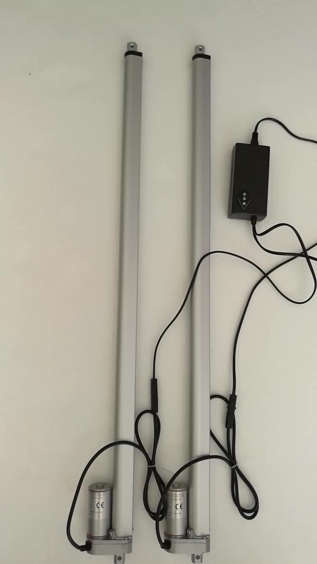 RISESAT 800 мм ход 12 вольт тихий линейный привод с кронштейнами RS-D3 IP65