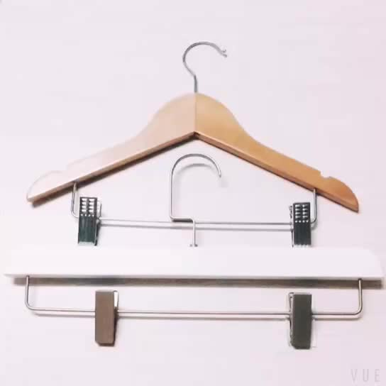 Customized hotel deluxe wood commercial suit coat rose gold hook white hanger for clothes