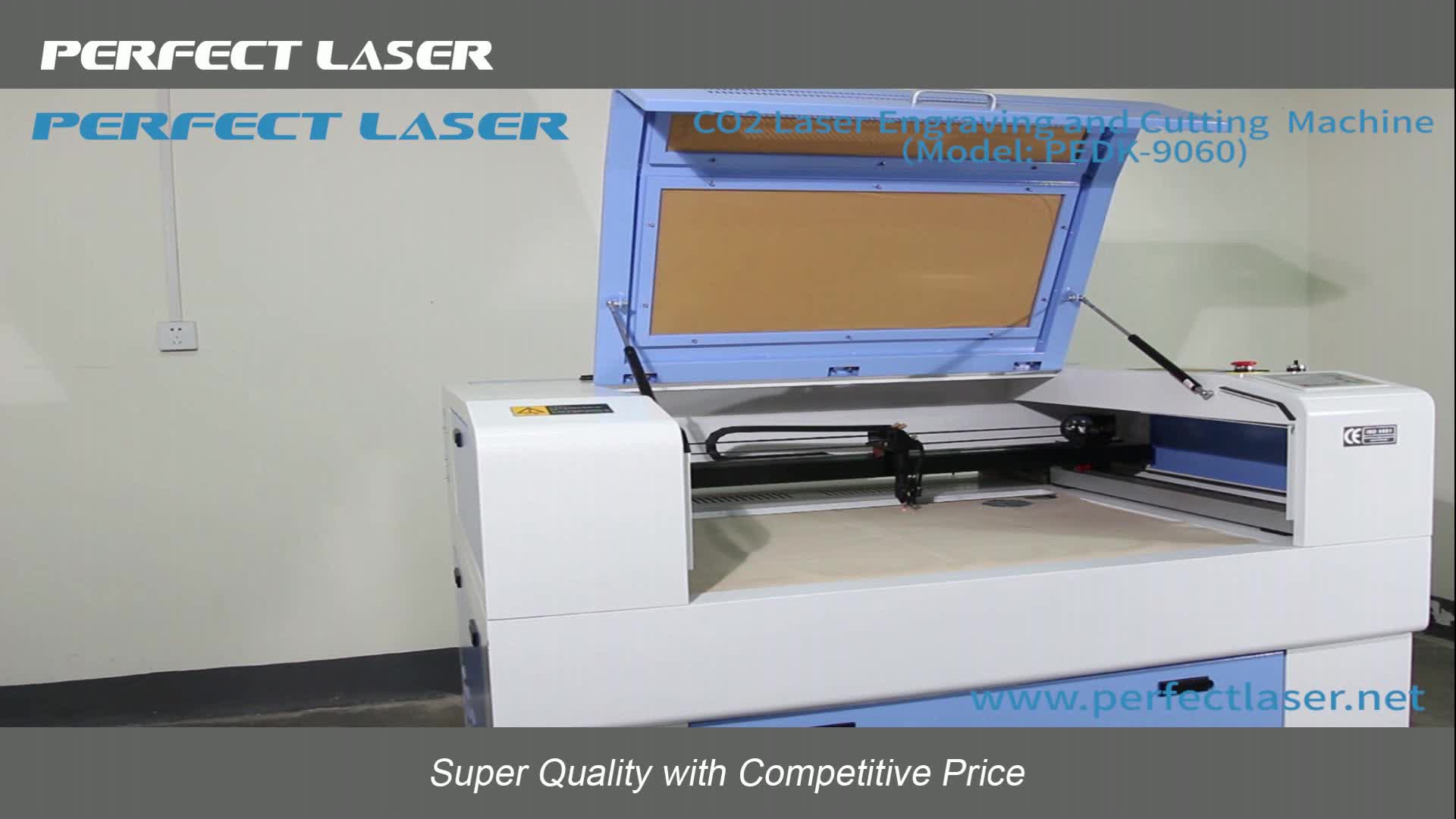 Perfect Laser 60W Plywood / Cloth / Acrylic / Wood Laser Engraving And Cutting Machine