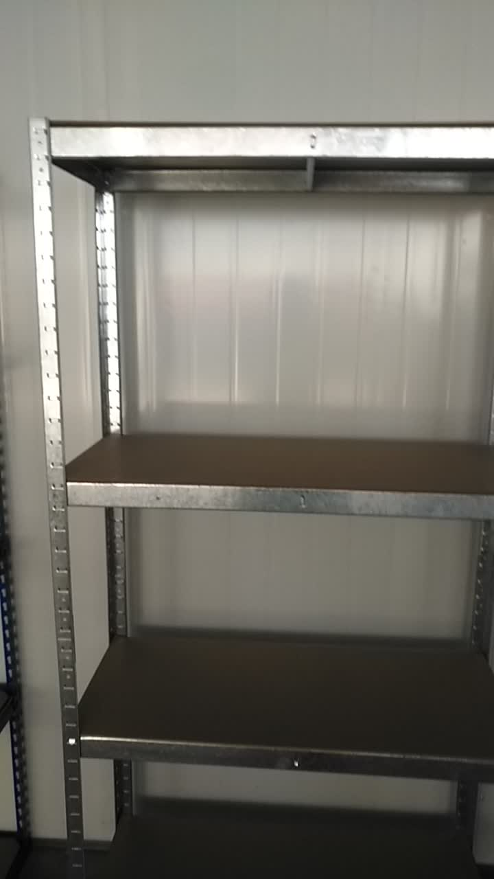 5 tier cold rolled steel warehouse shelf dividers for storage