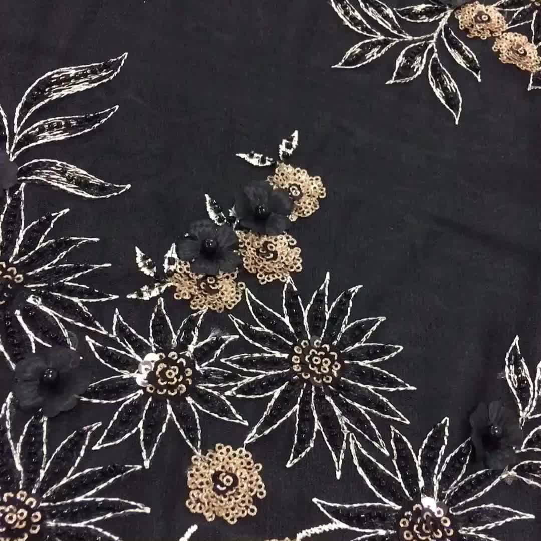 New Wholesale Machine Knitted Chemical Lace Fabric