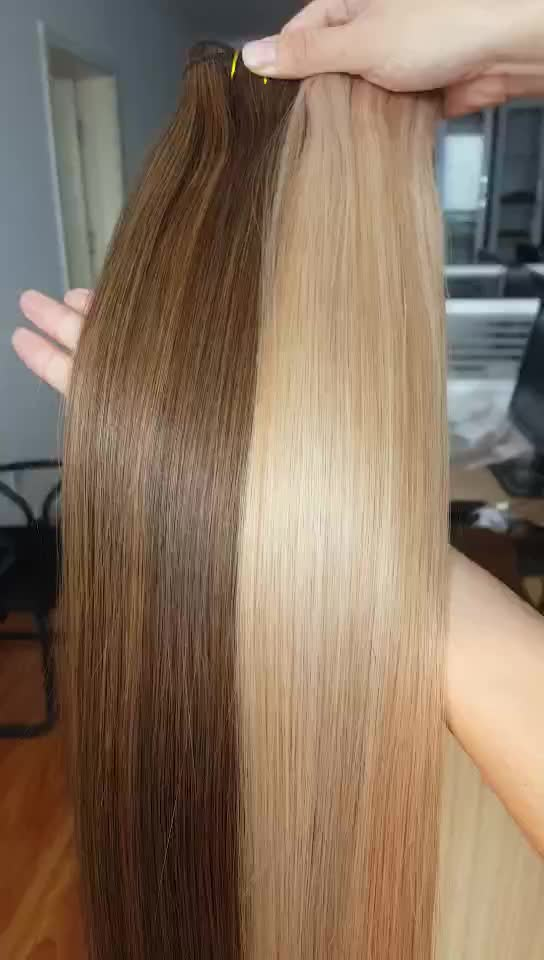 Factory Wholesale Thick Ends Remy Blonde Russian Human Hair