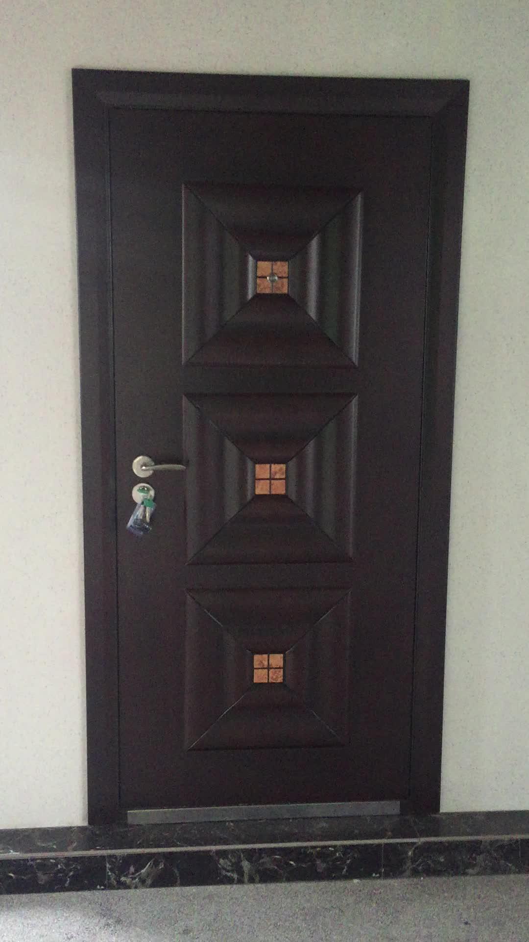 Good Quality Steel Wooden Armoured Door/armored Door For Entry Door Use