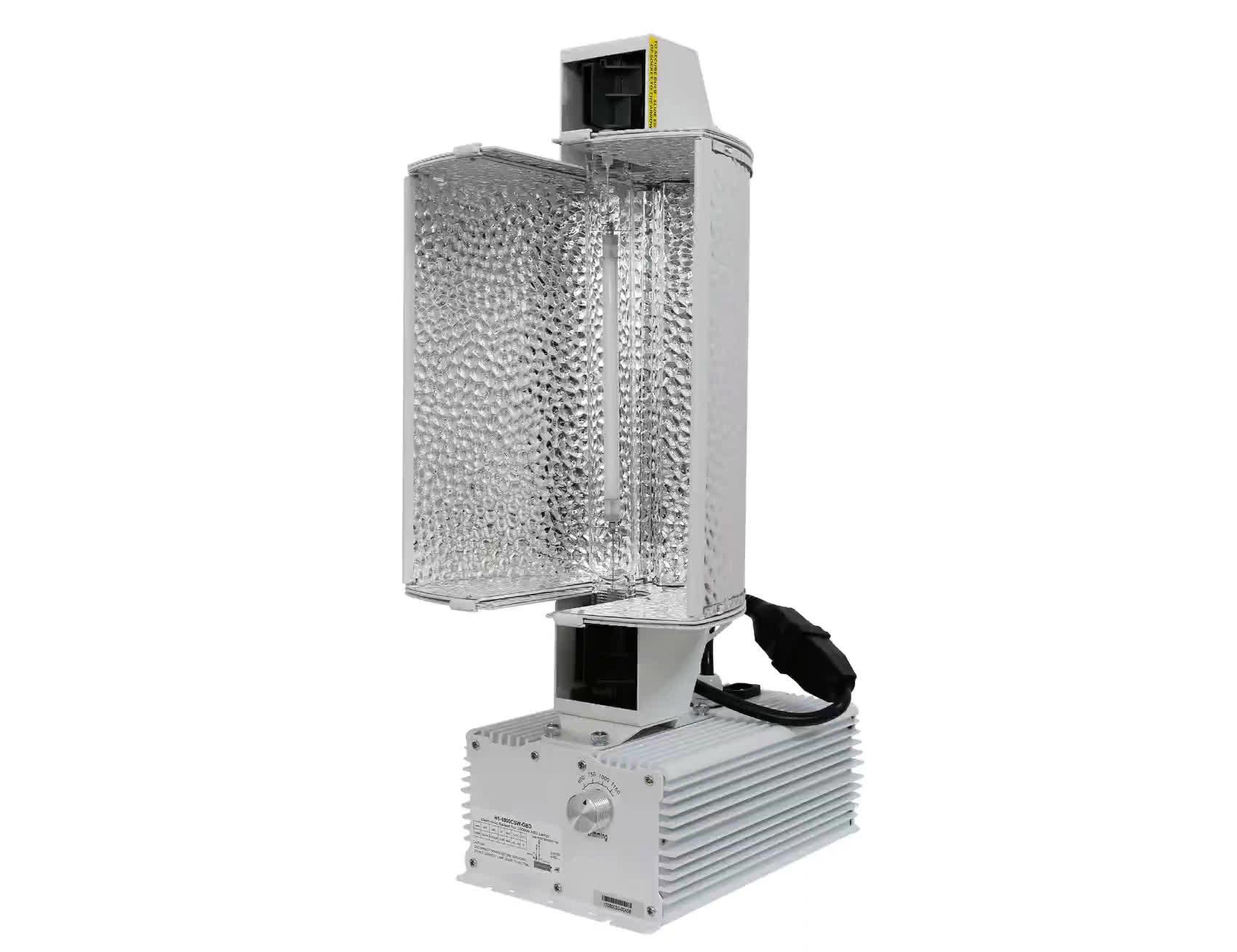 Patentierte Design ETL Zertifiziert FlexStar Stufenlos Einstellbar 1000 watt Doppelseitige DE Komplette System Reflektor Leuchte Haube
