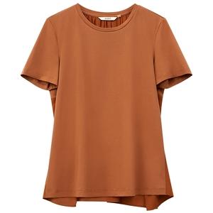 amii极简百搭白色短袖夏季新款t恤