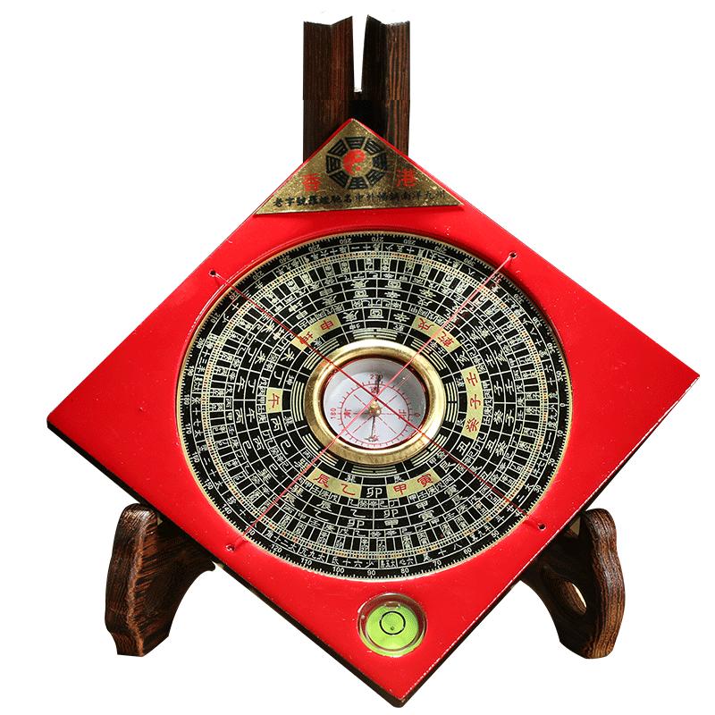 铜罗盘风水盘高精度专业三合综合盘8寸八卦罗经仪纯铜正品随身带