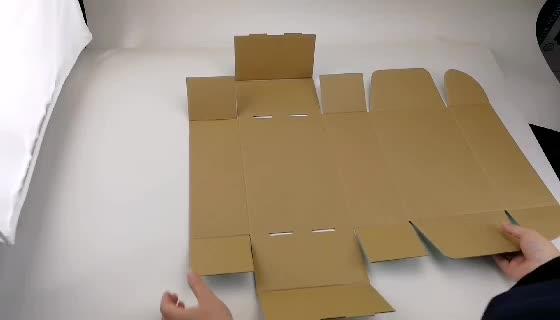 Benutzerdefinierte Farbdruck Wellpappe Karton Mailer Versand Mail Box