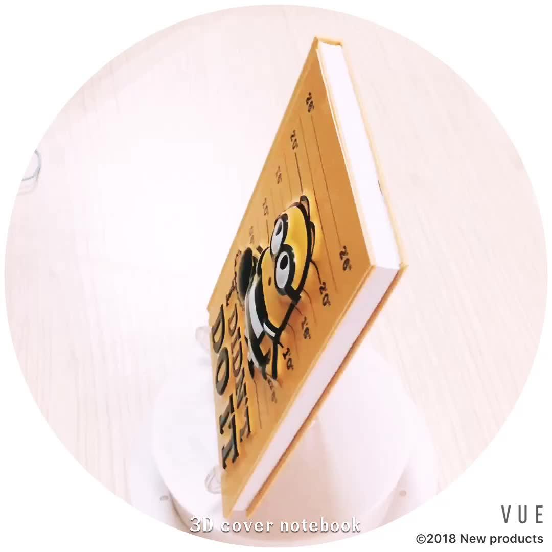 A5 kreatives 3D-Cover-Notizbuch mit Prägung