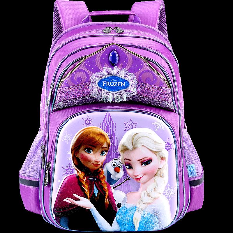 迪士尼书包小学生爱莎1-3-6一年级冰雪奇缘女童2018新款女孩儿童4