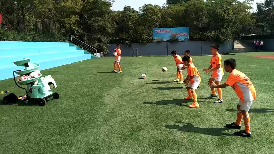 Portable soccer training machine with remote control