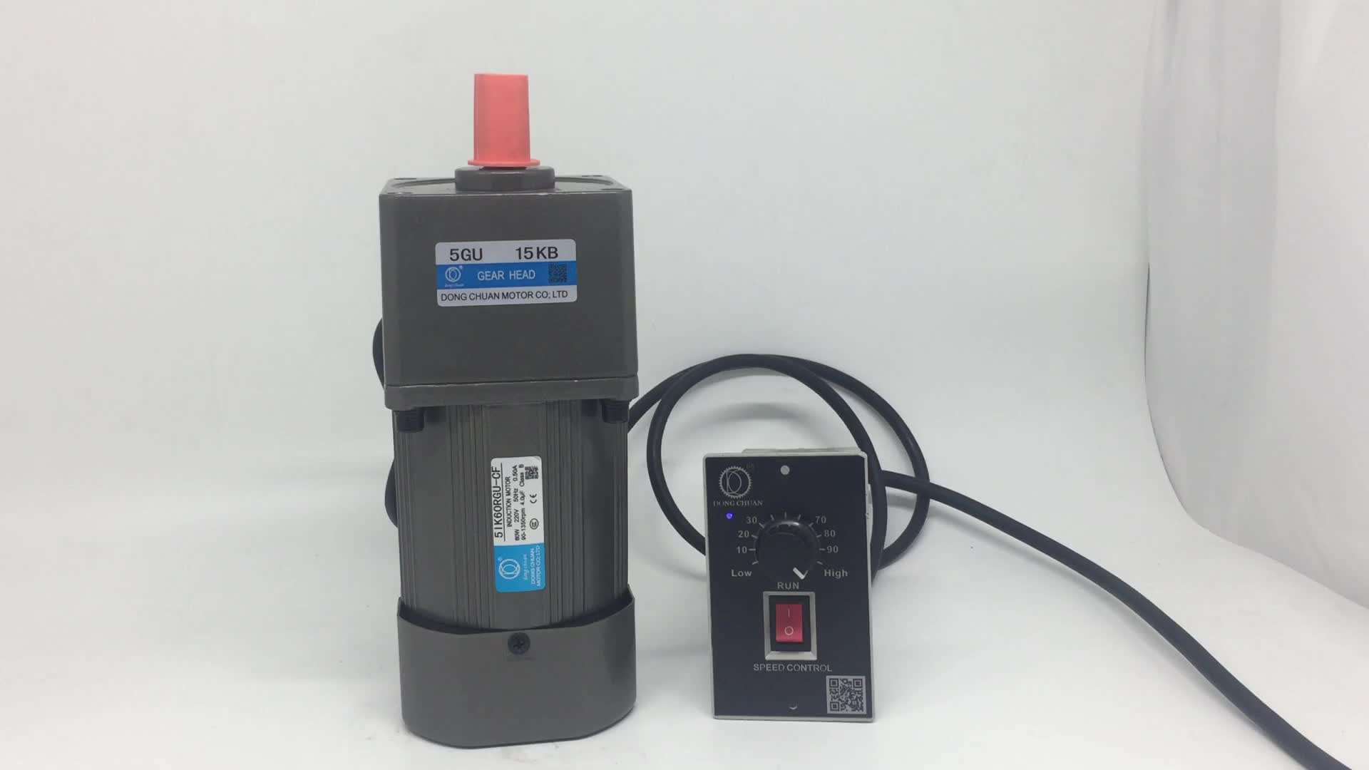 Dongchuanハイト品質60ワット90ワット120ワット単相非同期モータ小さな可変速度電動モーター