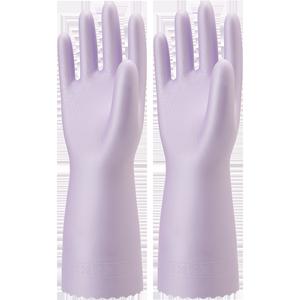 日本进口showa加厚橡胶皮植绒手套
