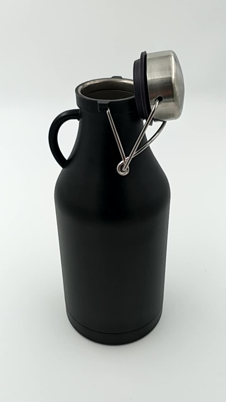 32oz Stainless Steel Growler and Vacuum Insulated Wide Mouth beer Bottle with mini handle
