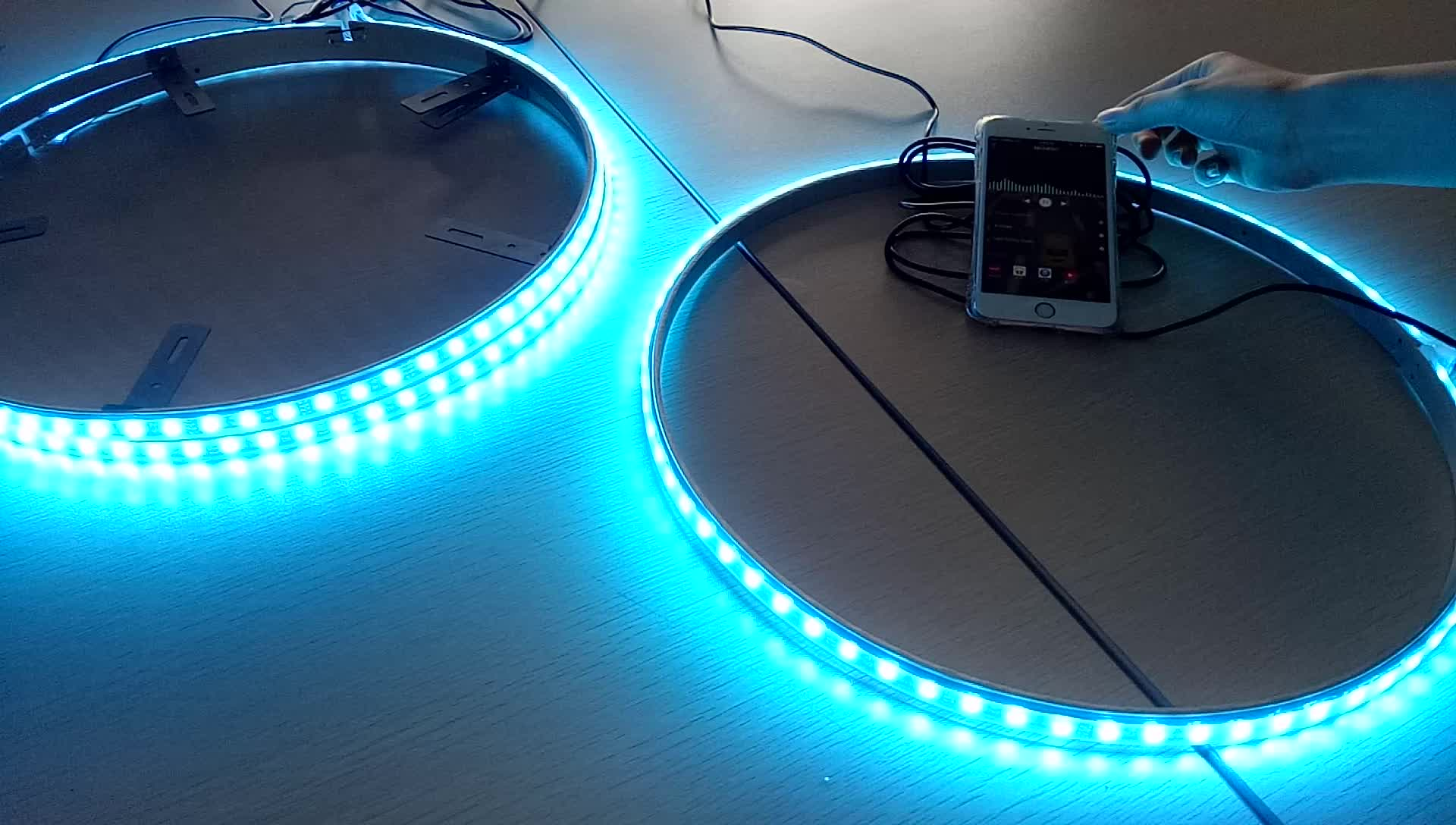 16millions colors Smartphone App Controlled Car LED Wheel Light Kit