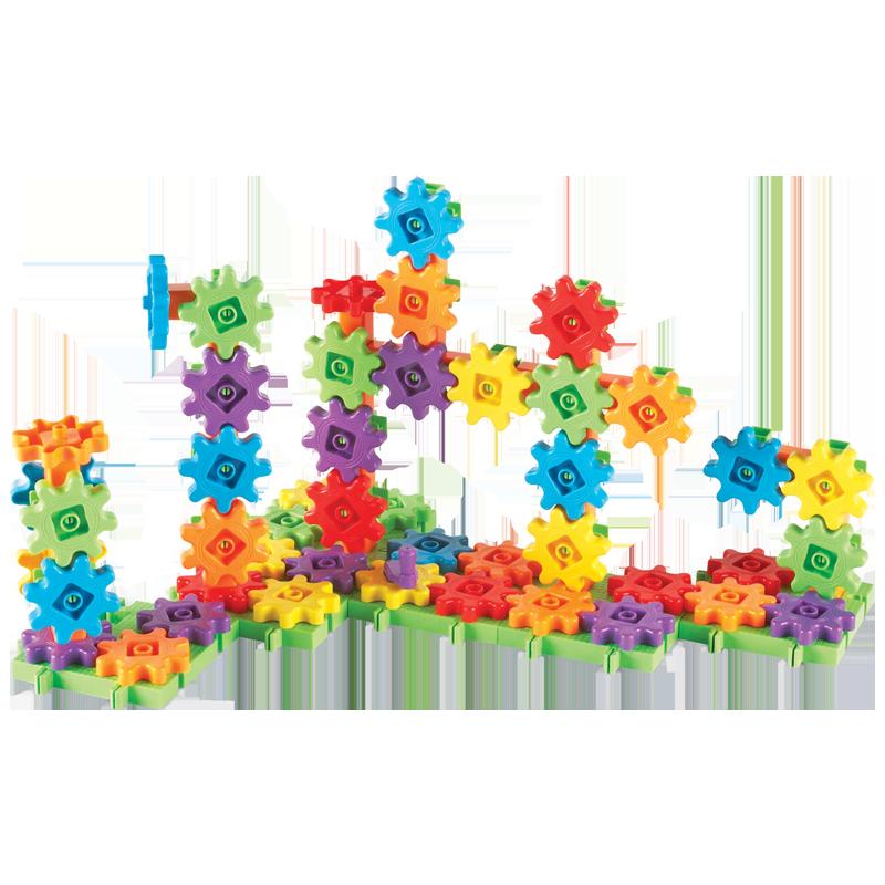 3-6岁儿童益智拼装玩具齿轮积木